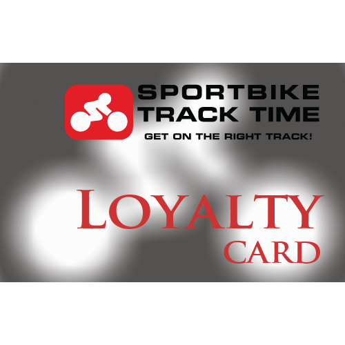 Sportbike Track Time Track Loyalty Card -  $1000 value